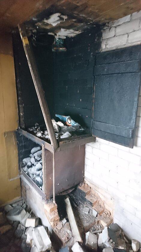Dabartinė virtuvės patalpa prieš remontą