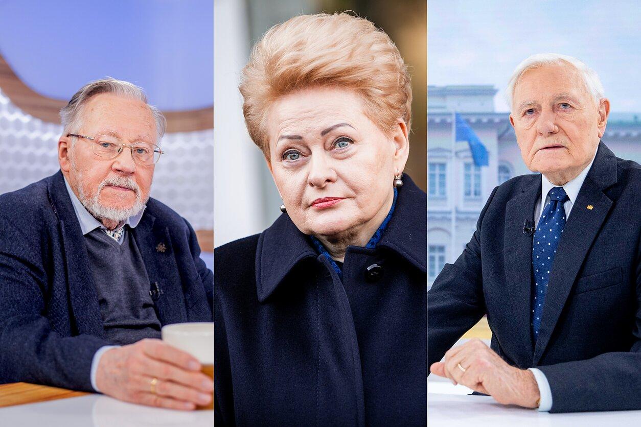 Vytautas Landsbergis,  Dalia Grybauskaitė, Valdas Adamkus