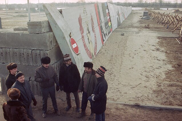 Barricades in Latvia, January 1991.