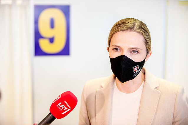 """AstraZeneca"" vakcina skiepijama Agnė Bilotaitė"