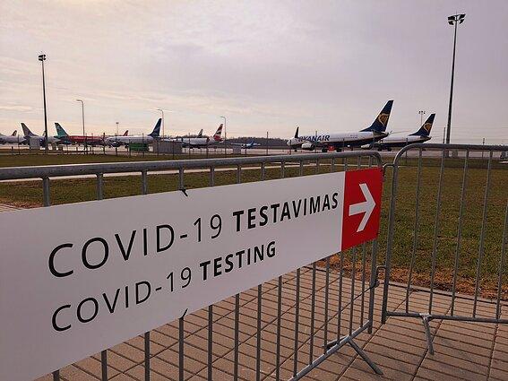 COVID-19 testavimo punktas Kauno oro uoste