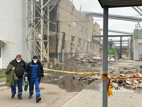 Eight injured after fire, explosion at wood processing factory in Lithuania's Klaipėda