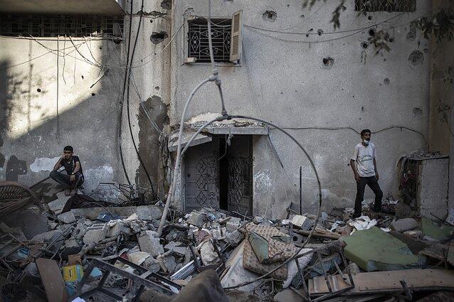 Gazos Ruožas po Izraelio antskrydžio