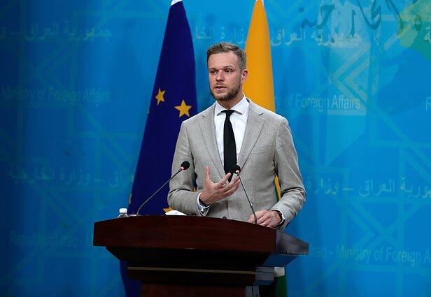 Gabrielius Landsbergis susitiko su Irako užsienio reikalų ministru