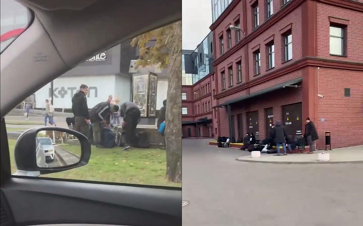 Migrantai Baltarusijos miestų gatvėse
